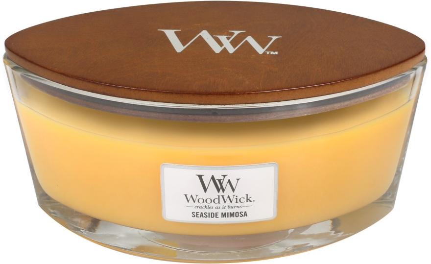 Ароматен восък в чаша - WoodWick Hearthwick Flame Ellipse Candle Seaside Mimosa — снимка N2