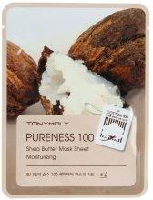 Парфюми, Парфюмерия, козметика Маска за лице с екстракт от масло Шеа - Tony Moly Pureness 100 Shea Butter Mask Sheet