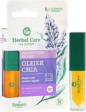Парфюмерия и Козметика Хидратиращо масло за устни с чия - Farmona Herbal Care Lip Superoil Chia Oil