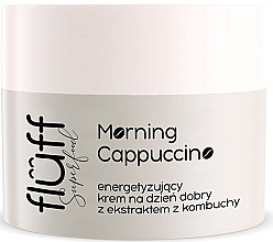 Парфюмерия и Козметика Крем за лице против бръчки с екстракти от комбуча и кафе - Fluff Morning Cappuccino Day Face Cream