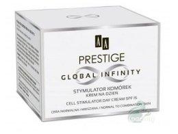 Парфюмерия и Козметика Дневен крем за нормална и комбинирана кожа на лицето - AA Prestige Global Infinity Cell Stymulator Day Cream SPF15