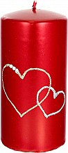 Парфюмерия и Козметика Декоративна свещ, червена, 7х14см - Artman Forever