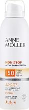 Парфюмерия и Козметика Слънцезащитен спрей за тяло - Anne Moller Non Stop Active Sun Invisible Mist SPF50