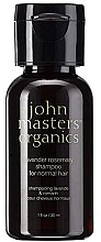 """Парфюмерия и Козметика Шампоан за коса """"Лавандула и розмарин"""" - John Masters Organics Lavender Rosemary Shampoo (мини)"""