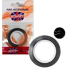 Парфюми, Парфюмерия, козметика Декорираща лента за нокти 000373, черна - Ronney Professional