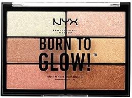 Парфюми, Парфюмерия, козметика Палитра хайлайтъри - NYX Professional Makeup Professional Born to Glow Highlighting Palette