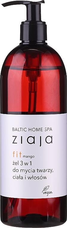 """Универсален измиващ гел за лице , тяло и коса """"Манго"""", с дозатор - Ziaja Baltic Home Spa Gel Mango"""