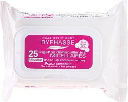 Парфюмерия и Козметика Мицеларни кърпички за премахване на грим - Byphasse Make-up Remover Micellar Solution Sensitive Skin Wipes