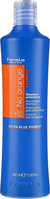 Шампоан за боядисана коса с тъмни нюанси - Fanola No Orange Extra Blue Pigment Shampoo