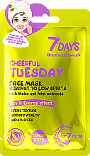 "Парфюмерия и Козметика Маска за лице срещу лошо настроение ""Весел вторник"" - 7 Days Cheerful Tuesday"