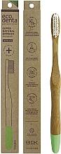 Парфюмерия и Козметика Бамбукова четка за зъби, средна твърдост, светлозелена - Ecodenta Bamboo Toothbrush Medium