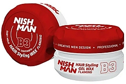 Парфюмерия и Козметика Стилизираща вакса-гел за коса - Nishman Hair Styling Gel Wax B3 Flaming