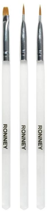 Комплект четки за маникюр, RN 00464 - Ronney Professional (3бр) — снимка N1