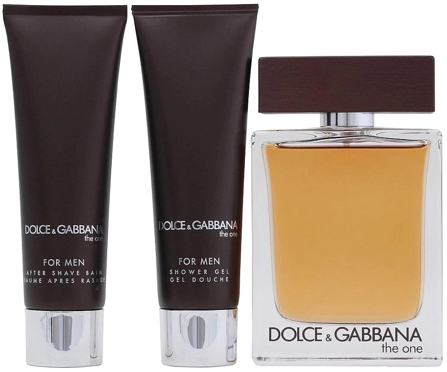 Dolce & Gabbana The One for Men - Комплект (тоал.вода 100ml + афтършейв балсам 50ml + душ гел 50ml) — снимка N3