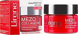 Парфюмерия и Козметика Лифтинг крем за лице против бръчки SPF 15, 70+ - Lirene Mezo Collagene SPF 15