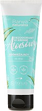 Парфюмерия и Козметика Освежаващ дезодориращ крем за крака - Barwa Natural Aloe Deodorant Cream