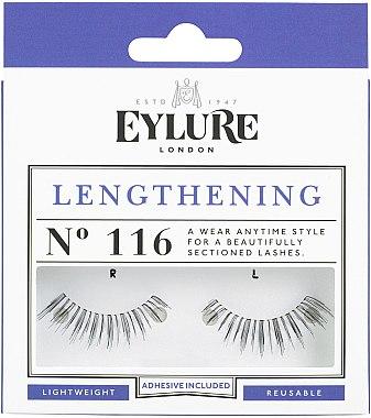 Изкуствени мигли №116 с лепило - Eylure Lengthening False Eyelashes No.116 — снимка N1