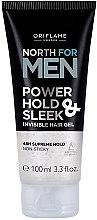 Парфюми, Парфюмерия, козметика Стилизиращ гел за коса - Oriflame North For Men Power Hold & Sleek Invisible Hair Gel