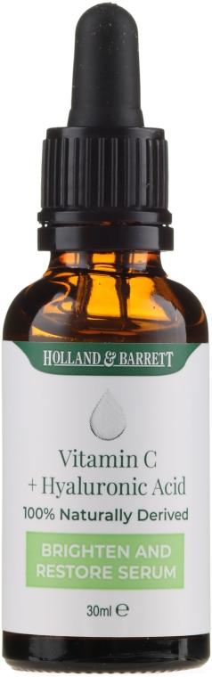 Серум за лице с витамин С и хиалуронова киселина - Holland & Barrett Vitamin C + Hyaluronic Acid Serum — снимка N2