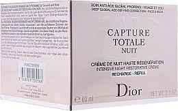 Парфюми, Парфюмерия, козметика Нощен възстановяващ крем за лице и шия - Christian Dior Capture Totale Nuit (пълнител)