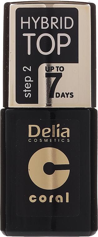 Топ лак - Delia Coral Hybrid Top Coat Gel
