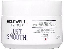 Парфюми, Парфюмерия, козметика Интензивна грижа за непокорна коса - Goldwell Dualsenses Just Smooth 60sec Treatment