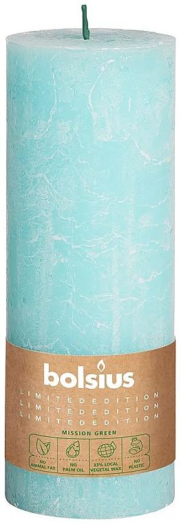 Цилиндрична свещ, синя, 190х68 мм - Bolsius — снимка N1