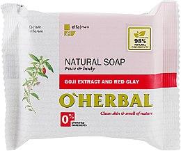 Парфюмерия и Козметика Натурален сапун с екстракт от годжи бери и червена глина - O'Herbal Natural Soap