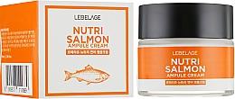 Парфюмерия и Козметика Подхранващ крем за лице с масло от сьомга - Lebelage Ampule Cream Nutri Salmon