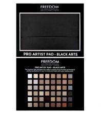 Парфюми, Парфюмерия, козметика Палитра сенки за очи, 48 нюанса - Freedom Makeup London Pro Artist Pad Black Arts