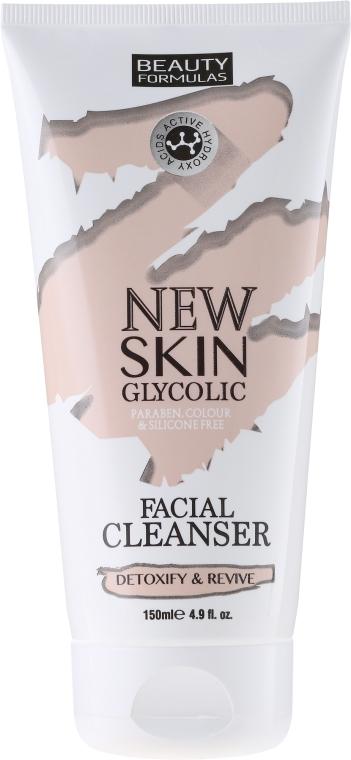 Почистващо мляко за лице - Beauty Formulas New Skin Glycolic Facial Cleanser