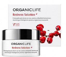 Парфюми, Парфюмерия, козметика Нощен крем за лице при капилярна кожа - Organic Life Dermocosmetics Redness Solution Night Cream