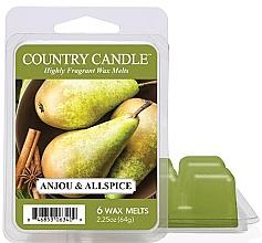 Парфюмерия и Козметика Ароматен восък - Country Candle Anjou & Allspice Wax Melts