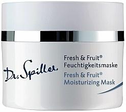 Парфюмерия и Козметика Овлажняваща маска за лице - Dr. Spiller Fresh & Fruit Moisturizing Mask