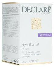 Парфюмерия и Козметика Нощен възстановяващ серум за лице - Declare Age Control Night Repair Essential Serum