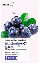 Парфюмерия и Козметика Памучна маска за лице с екстракт от боровинка - Eunyul Natural Moisture Blueberry Mask