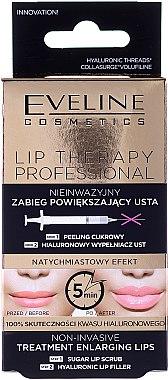 Комплект скраб и филър за обемни устни - Eveline Cosmetics Lip Therapy Professional (lip/scr/7ml + lip/filler/12ml)