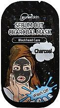 Парфюми, Парфюмерия, козметика Маска за лице с активен въглен - Purenskin Wash Off Sebum Out Charcoal Mask