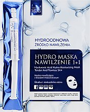 Парфюмерия и Козметика Маска за лице + серум - Czyste Piekno Hydro Mask Cloth Face Intensive Hydrating + Serum
