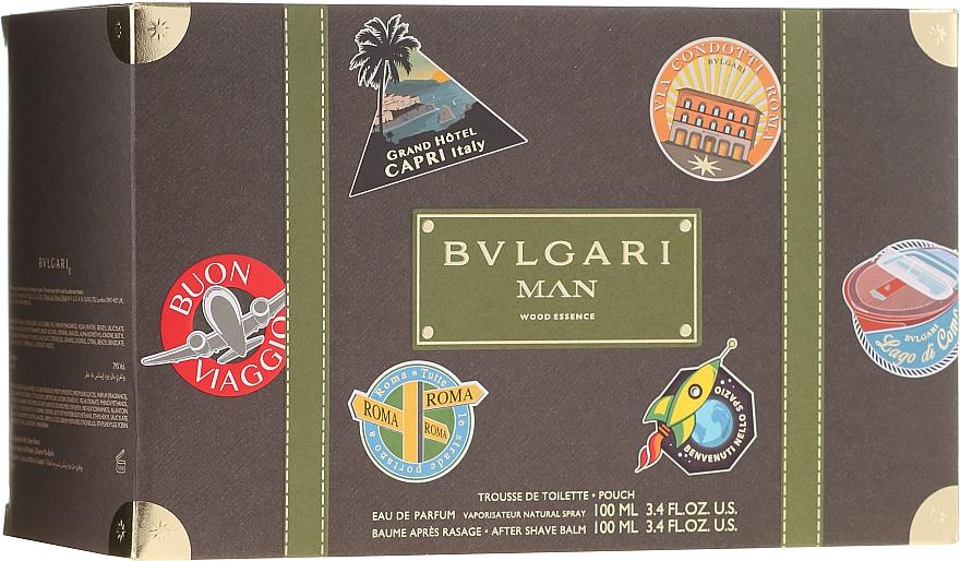 Bvlgari Man Wood Essence - Комплект (парф. вода/100ml + афтър. балсам/100ml + козм. чанта) — снимка N2
