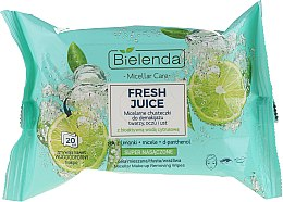 Парфюми, Парфюмерия, козметика Мицеларни кърпички за премахване на грим с биоактивна цитрусова вода - Bielenda Fresh Juice Micelar Make-up Removing Wipes