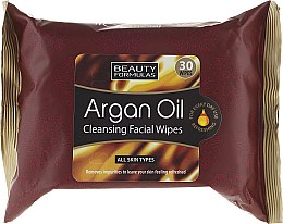 Парфюмерия и Козметика Почистващи кърпички за лице - Beauty Formulas Argan Oil Cleansing Facial Wipes