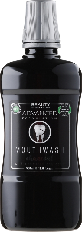 Вода за уста - Beauty Formulas Advanced Charcoal Mouthwash