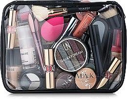 """Парфюми, Парфюмерия, козметика Козметичен прозрачен несесер """"Visible Bag"""" 25x18x8cm, (без съдържанието) - MakeUp"""