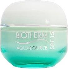 Парфюми, Парфюмерия, козметика Крем за нормална и комбинирана кожа - Biotherm Aquasource Air Cream SPF 15 (тестер)