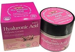 Парфюмерия и Козметика Хидратиращ ампулен крем за лице с хиалуронова киселина - Ekel Hyaluronic Acid Ampule Cream