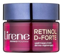 Парфюми, Парфюмерия, козметика Нощен омекотяващ крем за лице - Lirene Retinol D-Forte Firming and Regenerating Night Cream 60+
