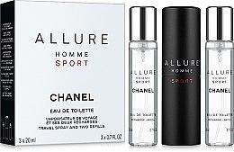 Парфюмерия и Козметика Chanel Allure homme Sport - Комплект (тоал. вода/20ml + пълнител за тоал. вода/2x20ml)