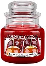 Парфюмерия и Козметика Ароматна свещ в бурканче - Country Candle Salted Caramel Apples