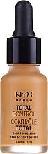 Парфюмерия и Козметика Устойчив фон дьо тен - NYX Professional Makeup Total Control Drop Foundation